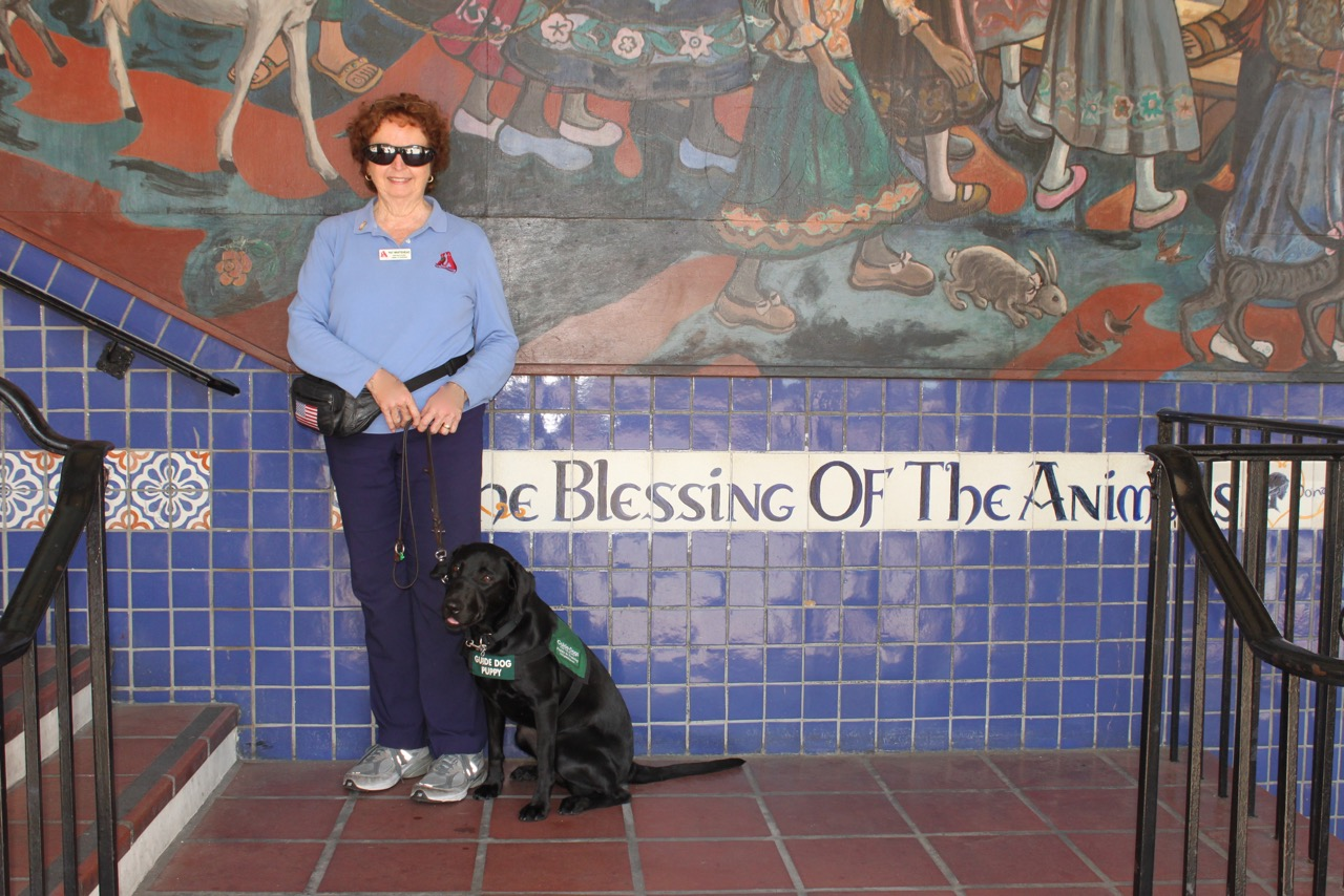 Pat With Reese At Olvera St.