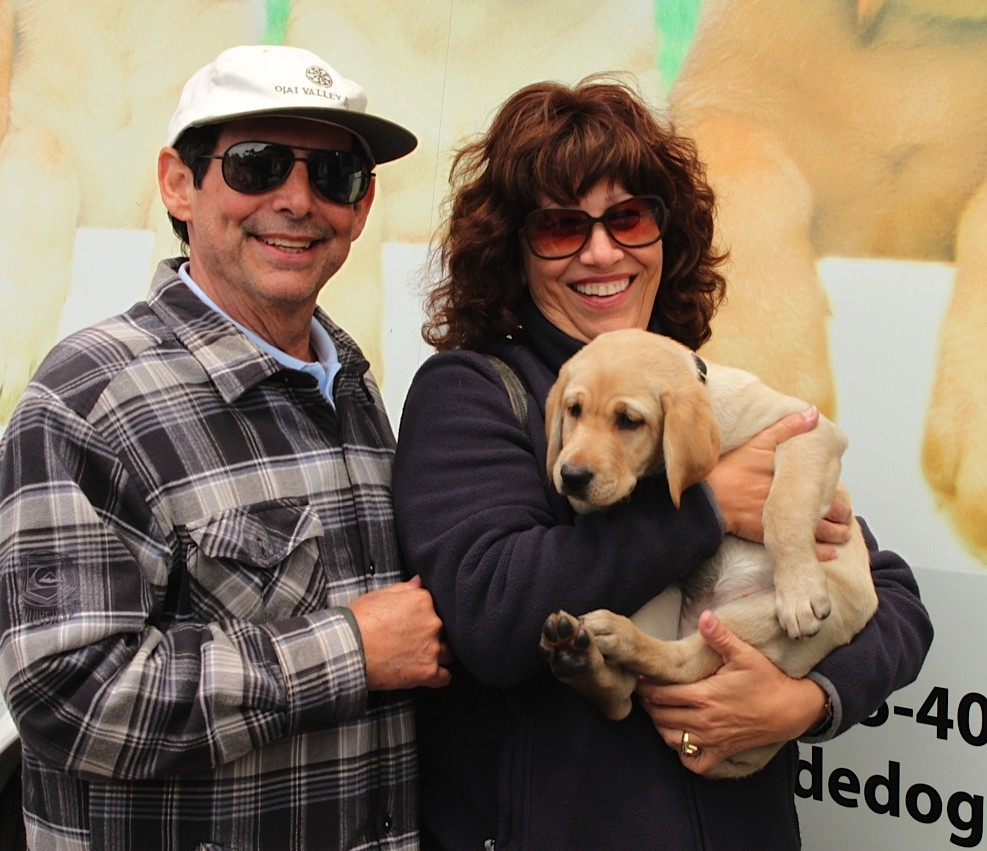 Karen and Manny with Asia at the Puppy Truck