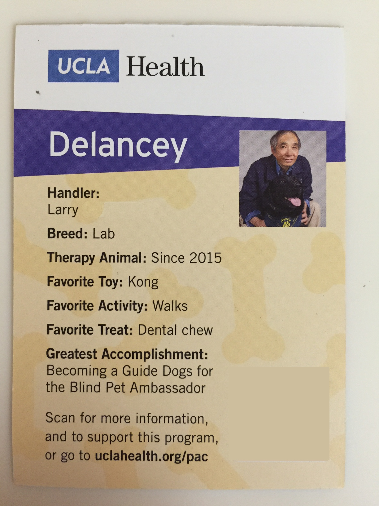 Larry with Delancey UCLA Health