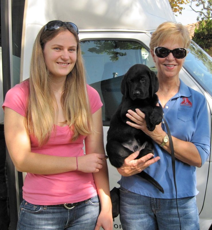 Mandy And Gail With Cancun At The Puppy Truck