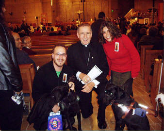 David And Martine, Melissa And Anya With Roger Cardinal Mahony, Archbishop Of Los Angeles