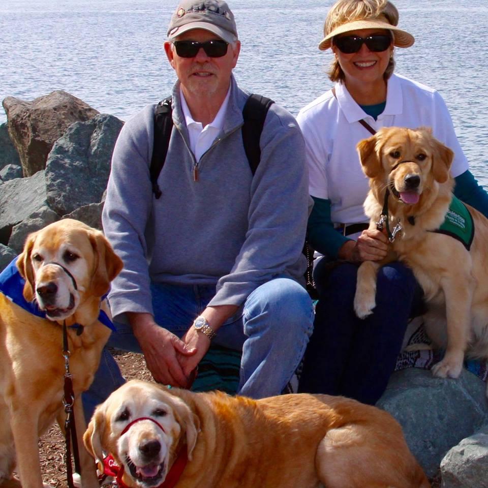 Peggy And Greg With Ottawa, Hugo, And Aisha