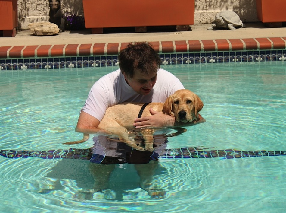 Tim With Asia In The Pool
