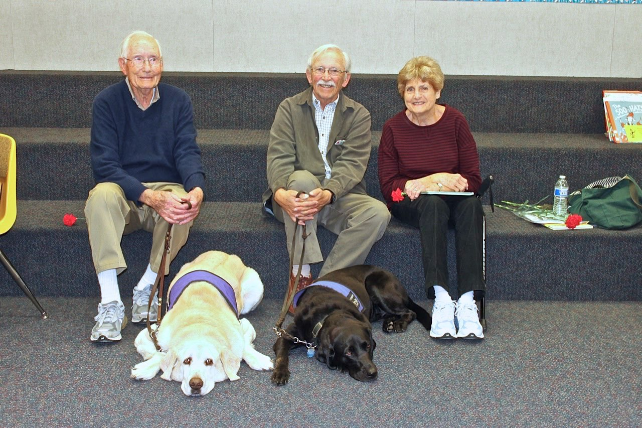 Bill, Tom, Patt, Tompkins, And Calypso At Buford School