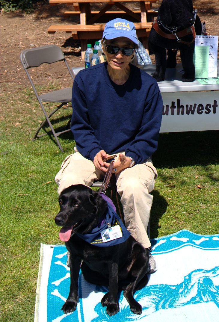 Larry with Delancey at UCLA Anchor Splash 2016