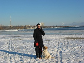 Pastora And Grad In Snow By Lake