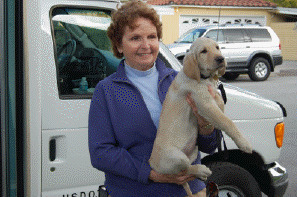Pat With Khaki At The Puppy Truck
