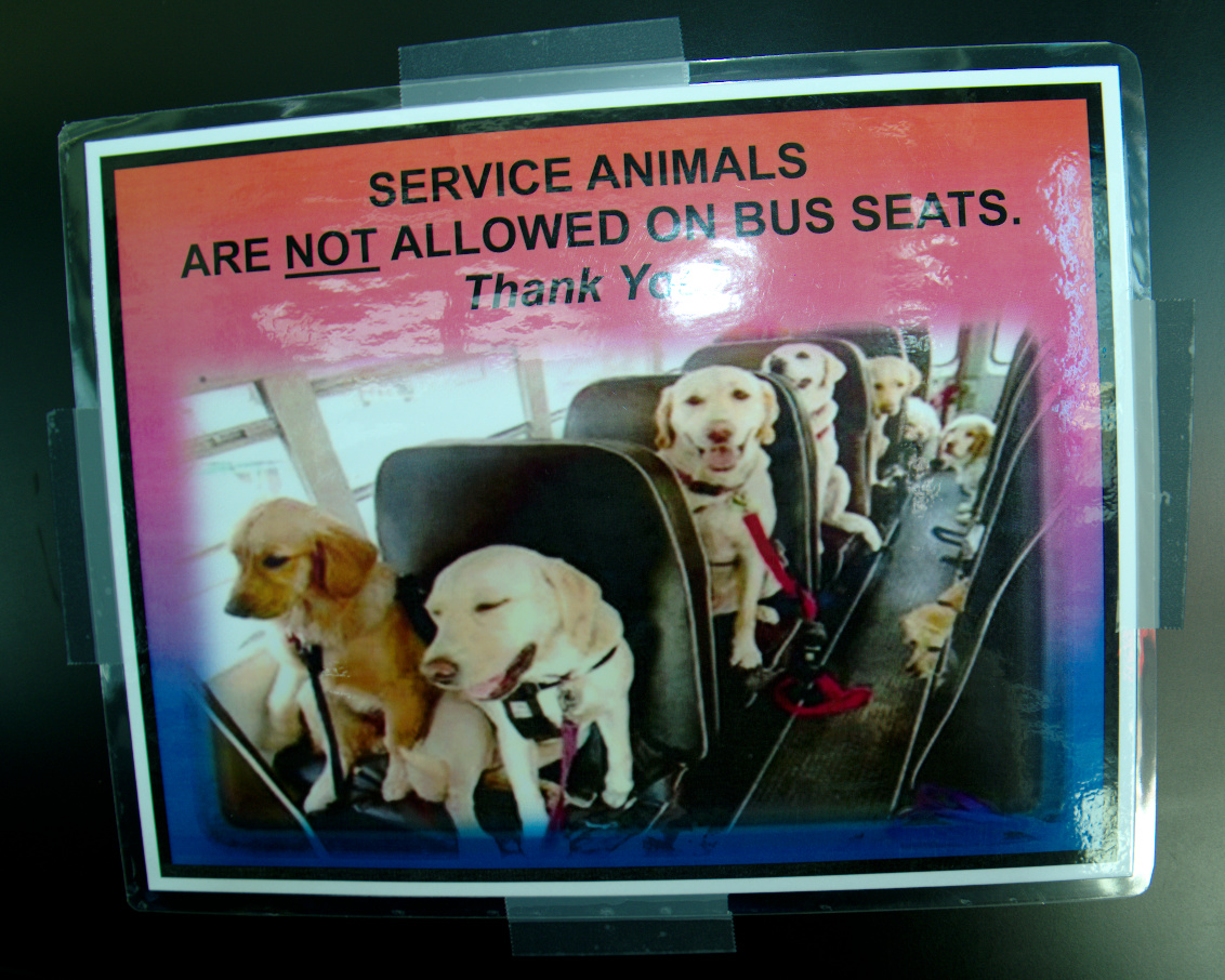 Sign in Orange County Transit Authority Bus