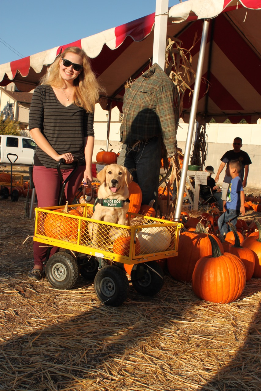 Kelsea with Amari at the pumpkin patch