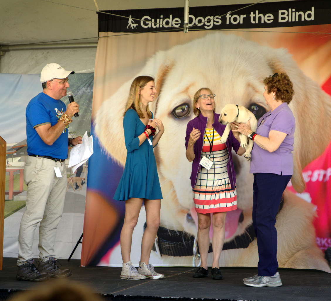 Pat Presenting Zola To Katherine And Colette At Fun Day