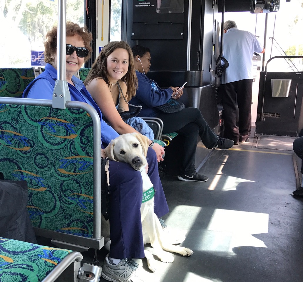 Pat With Velma And Taylor On A Bus