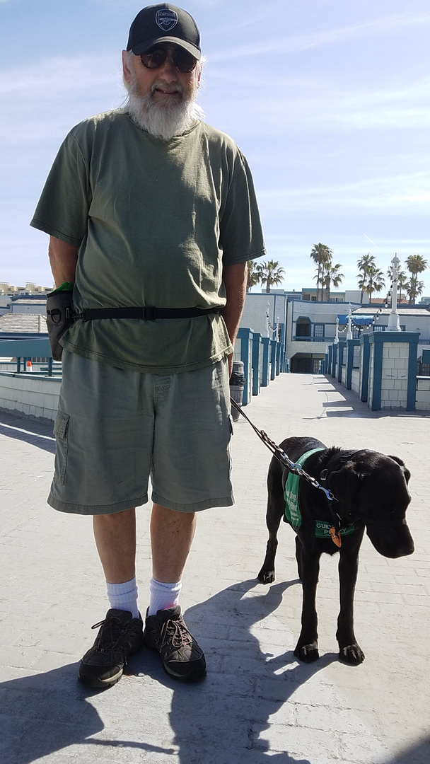Mike with Dash, last walk