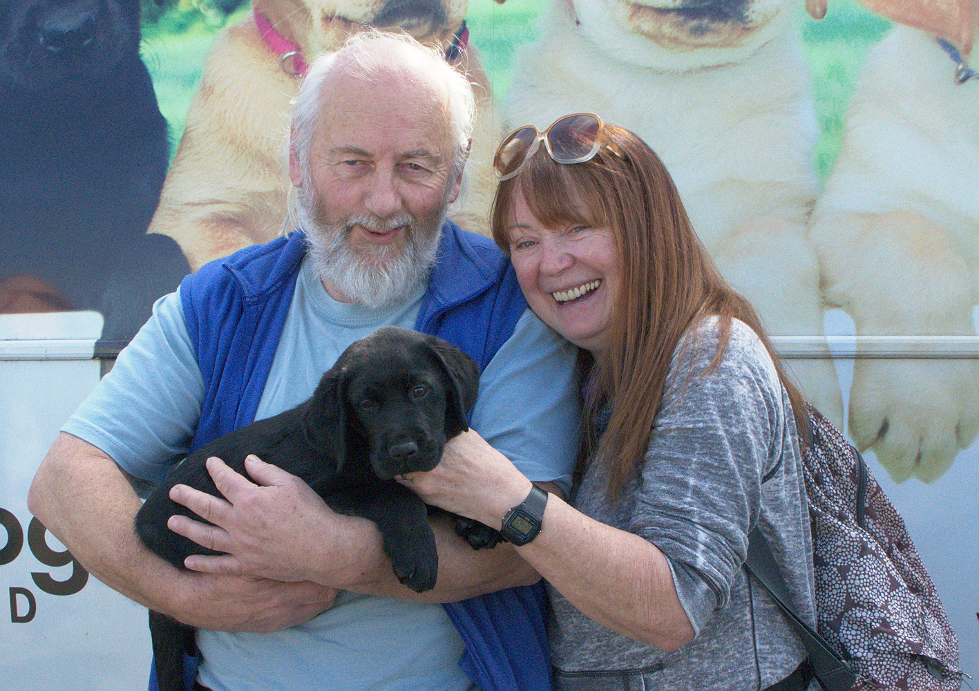 Brenda And Mike With Dash At The Puppy Truck