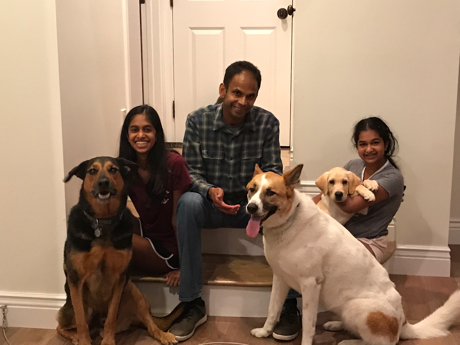 Avanthi with Dover and Sister and Father