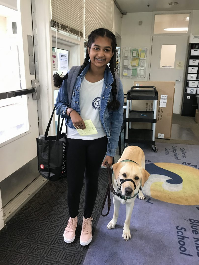 Avanthi with Dover at school