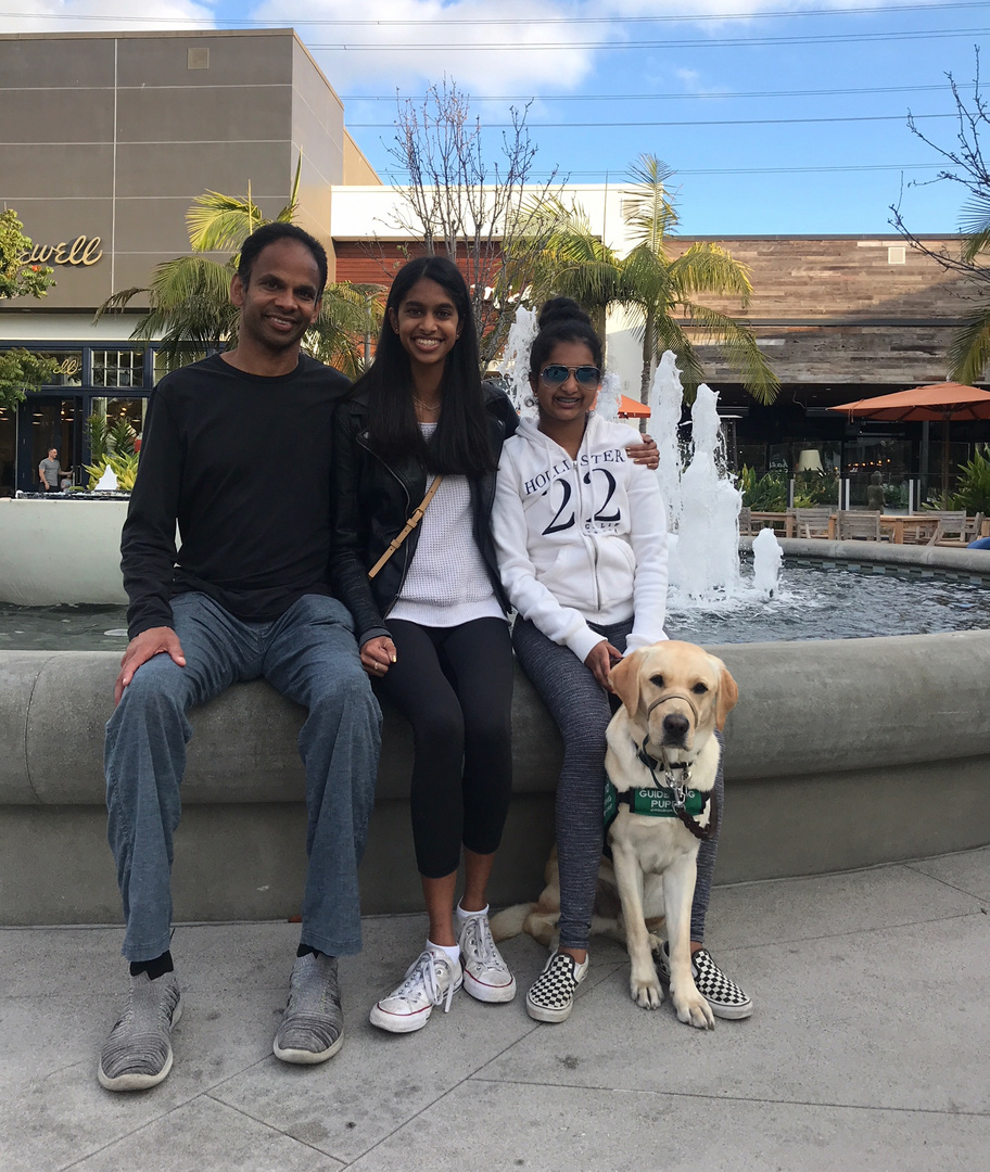 Pillan, Shriya, and Avanthi with Dover