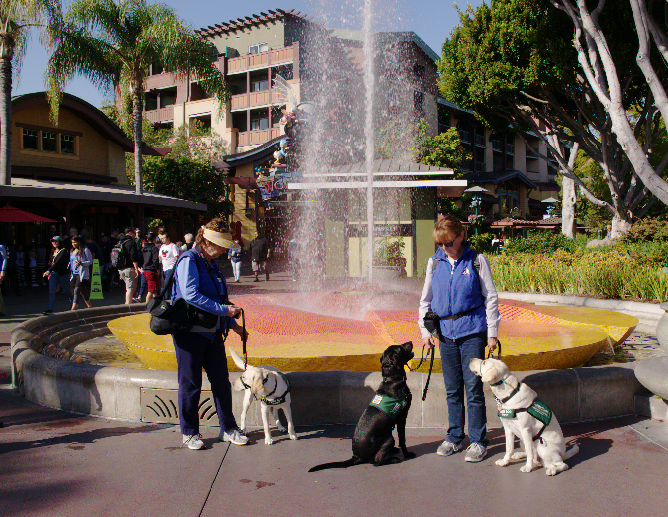 Pat With Tracy, Brenda With Reese And Dreamer At Downtown Disney