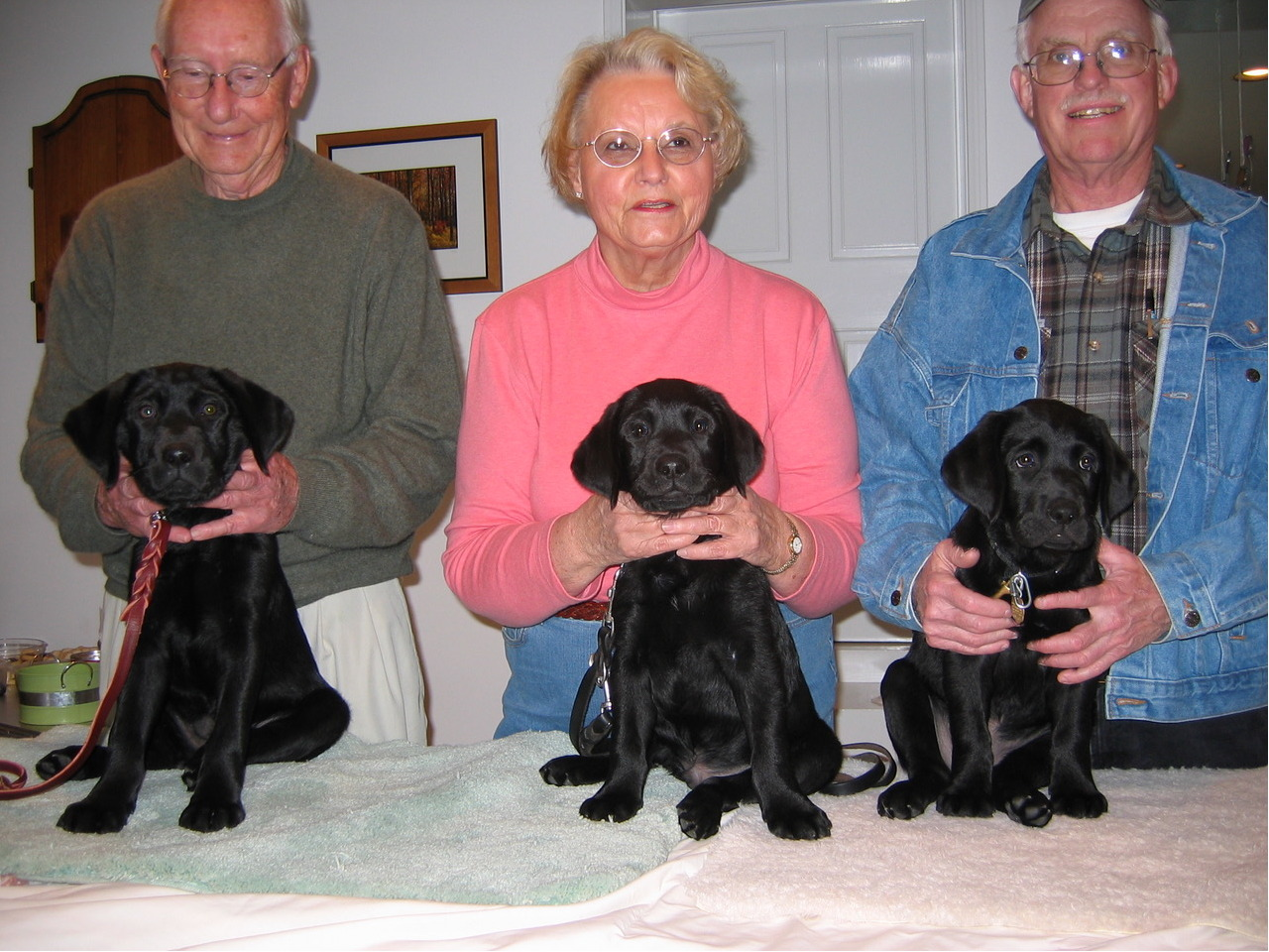 Bill With Hark, Judy With Tuck, Gerry With Tola