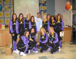 David With The Laker Girls