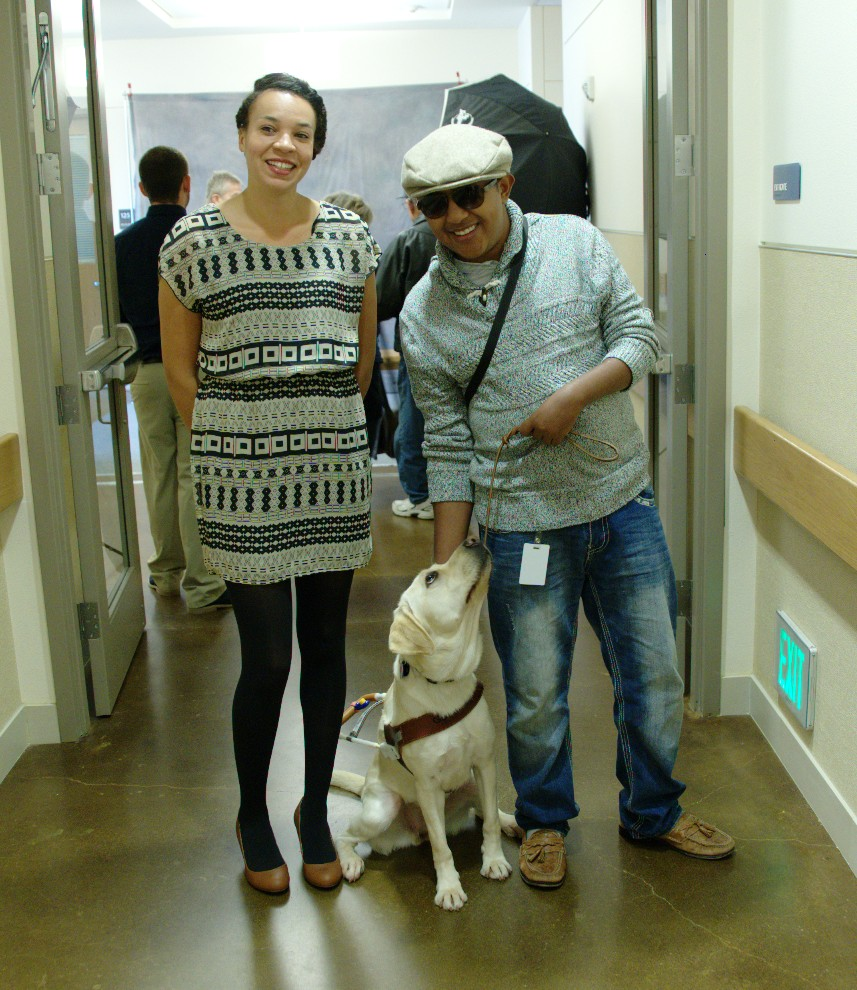 Dreamer with Mark and her trainer Jessica
