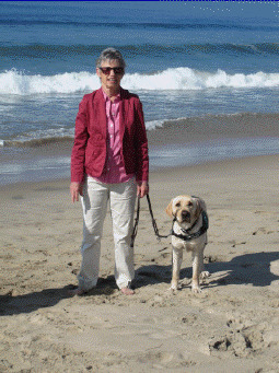 Joan With Hunter On The Beach