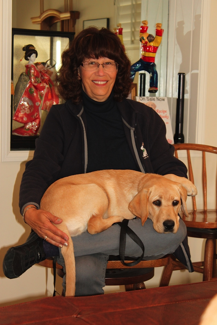 Karen with Asia (lap dog)