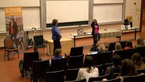 Melissa at UCLA Delta Gamma Presentation
