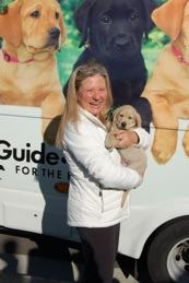 Sandra With Ava At The Puppy Truck