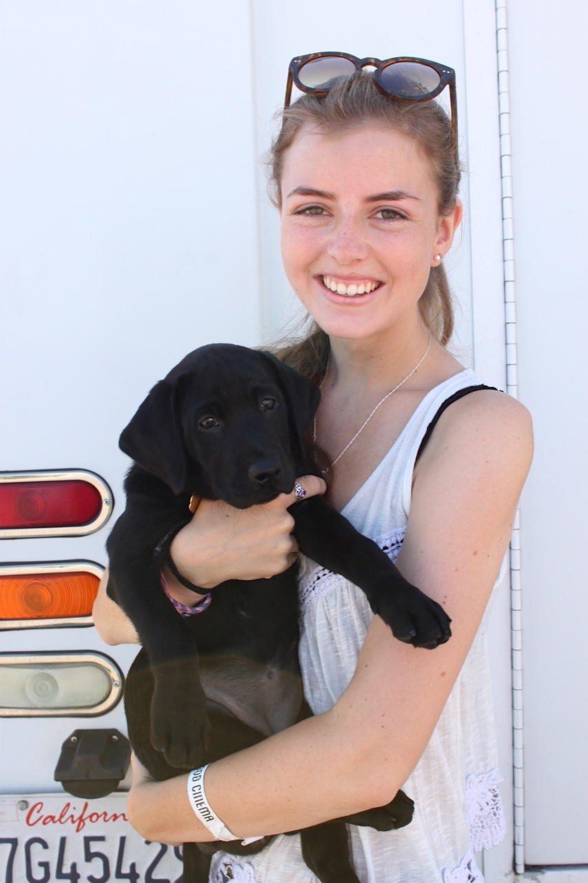Katherine With Reese At The Puppy Truck