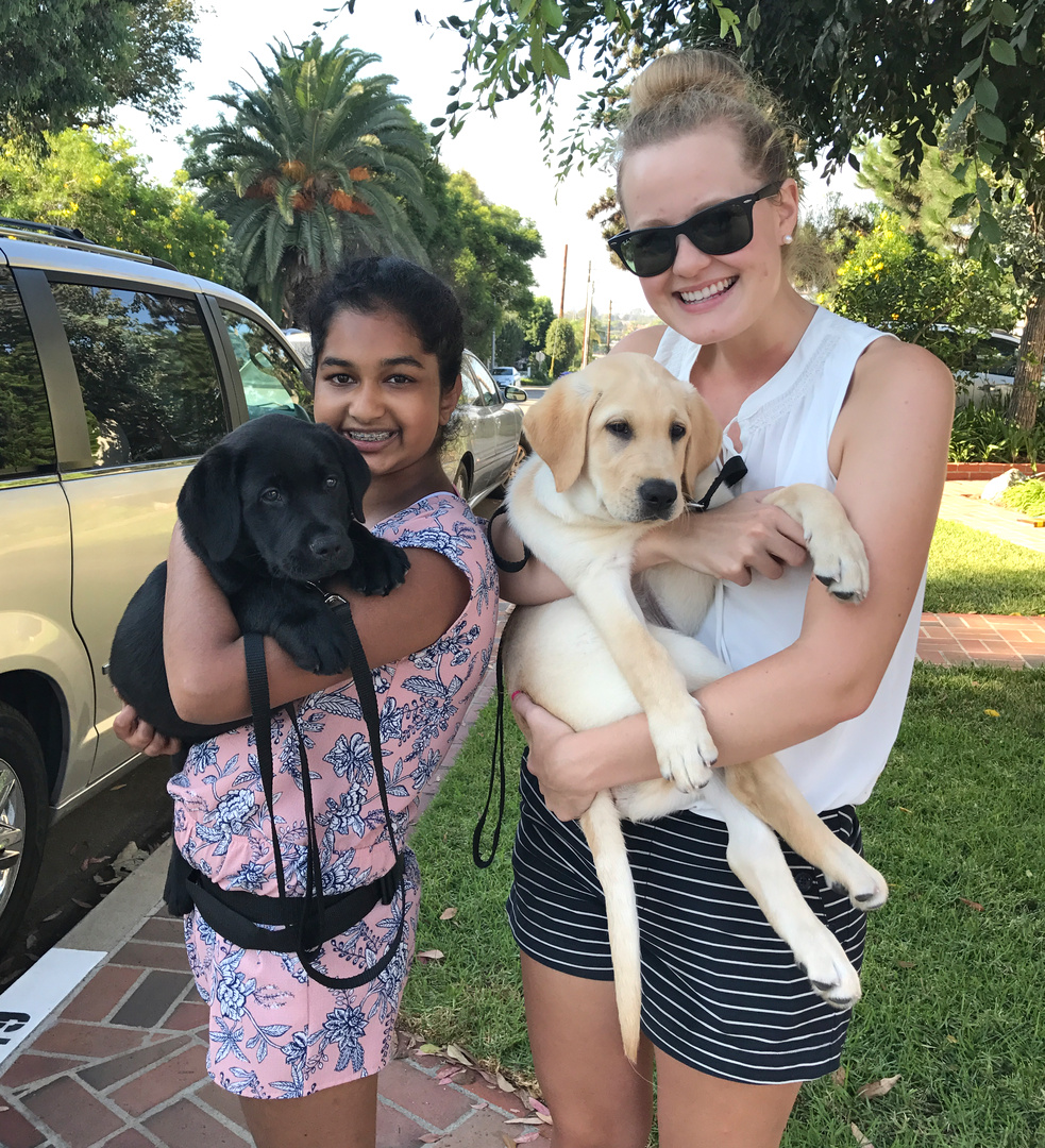 Avanthi with Jess and Kelsea with Dover