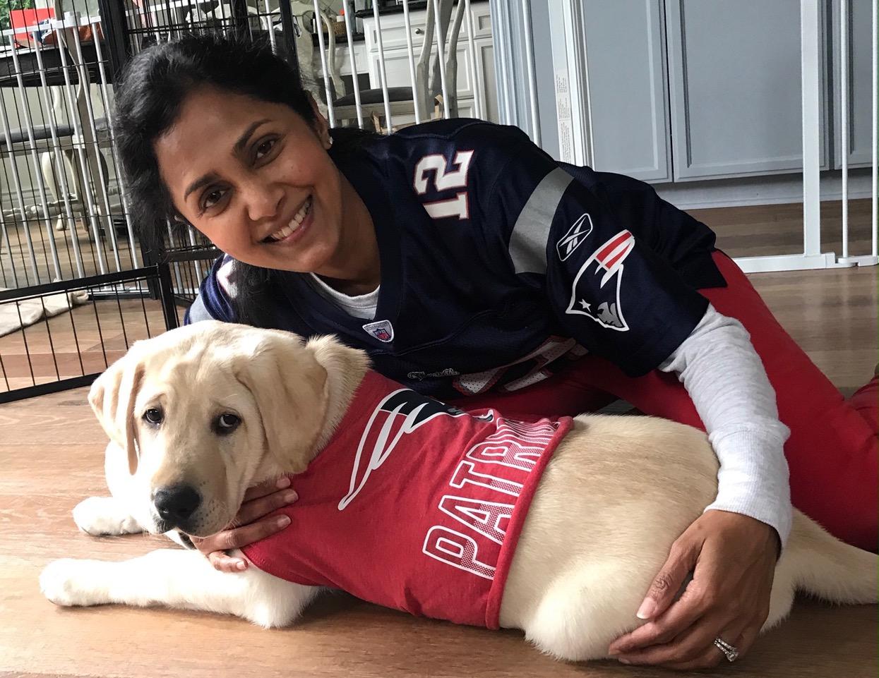 Daya with Kazuki, Patriots fan