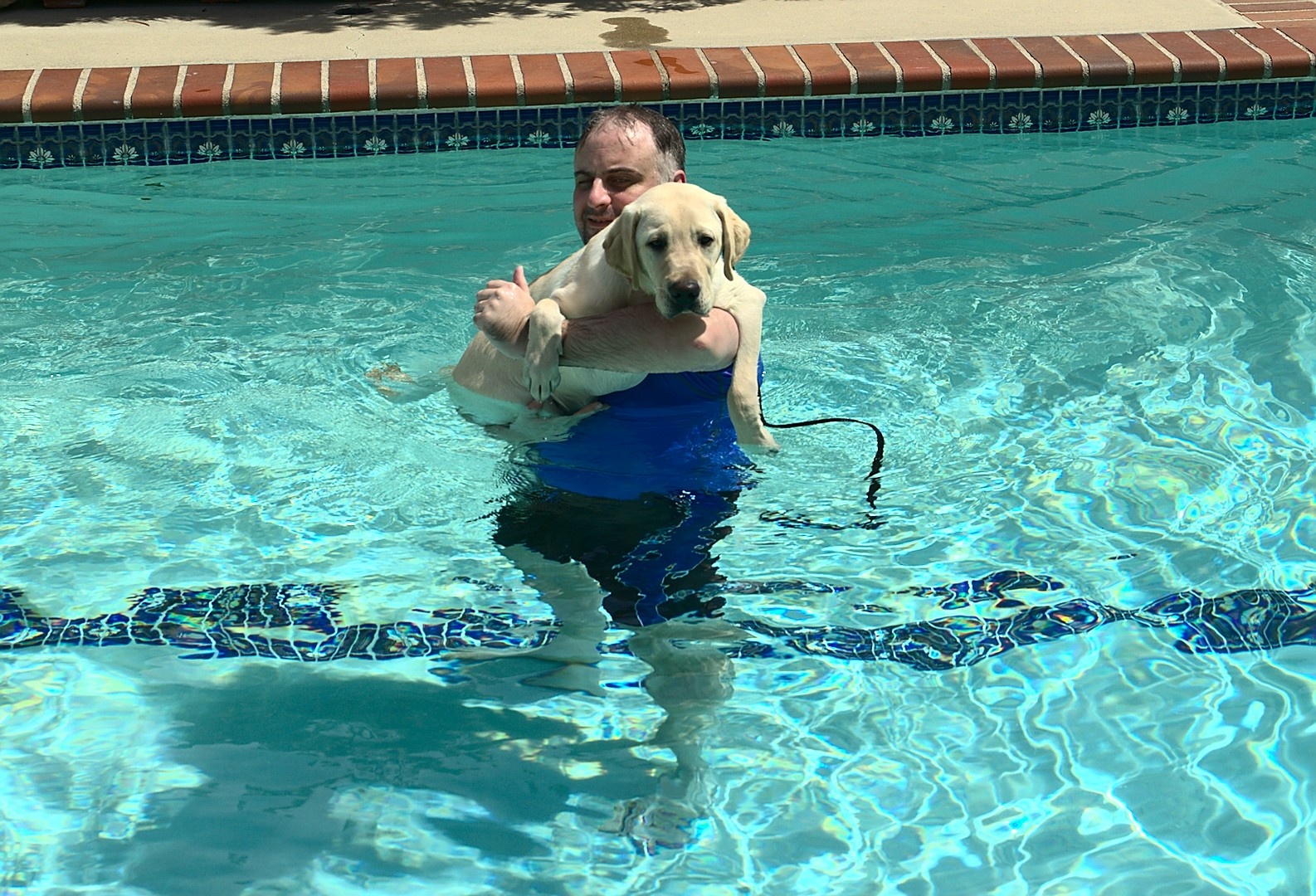 Tim with Kazuki first swim