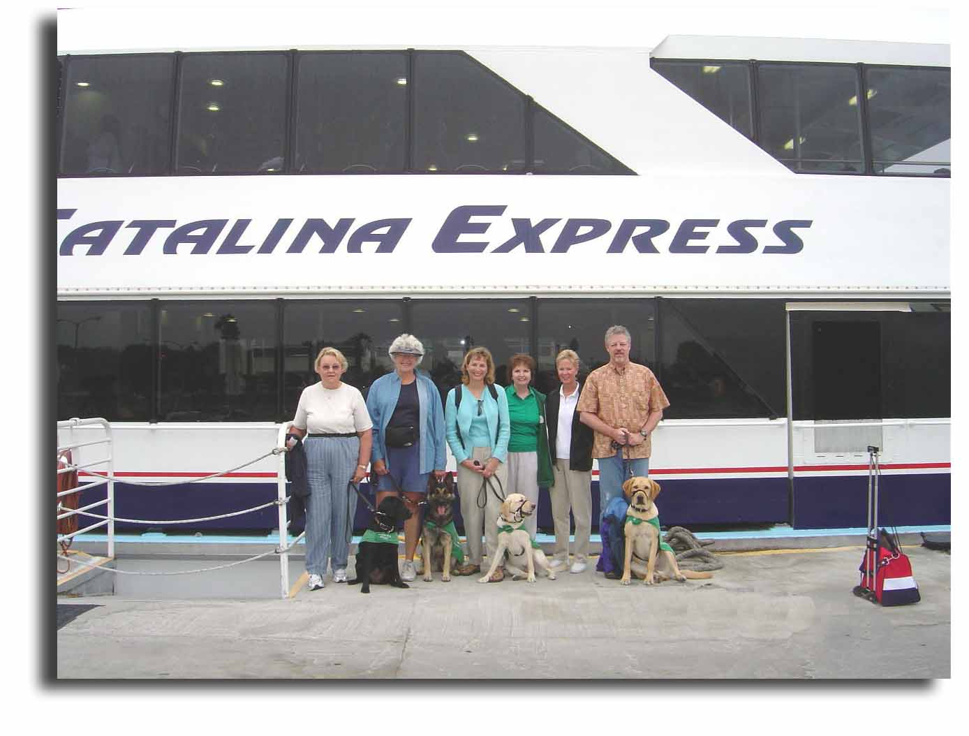 Group at the Catalina Express