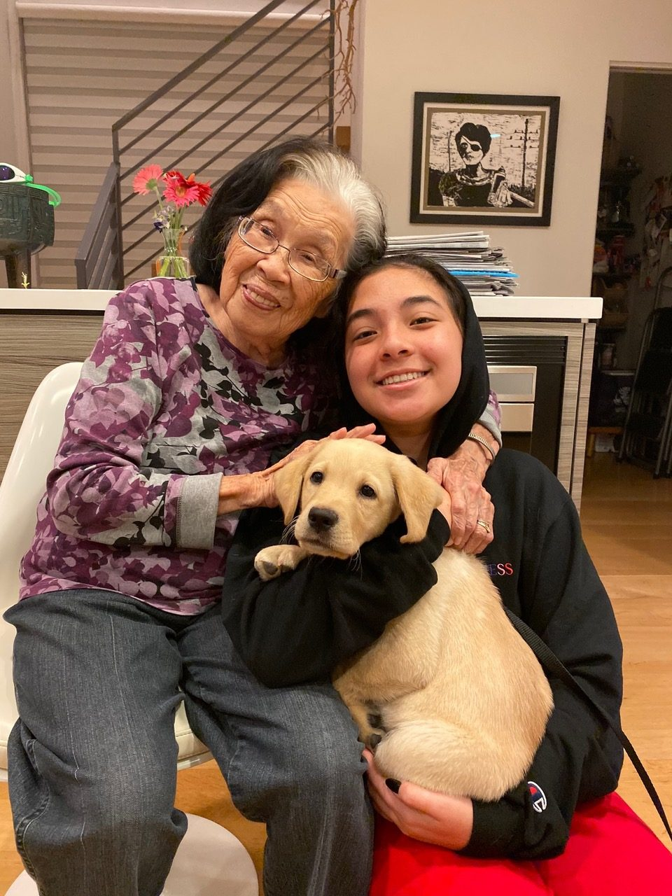Audrey and Grandma with Mesa