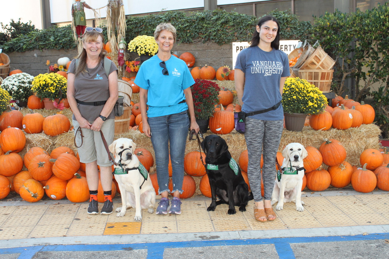 Brenda with Kazuki, Lisa with Macklin, Elizabeth with Emery at the Pumpkin Patch