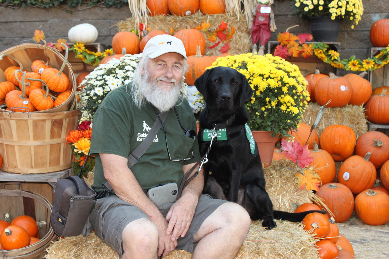 Mike with Macklin at the Pumpkin Patch