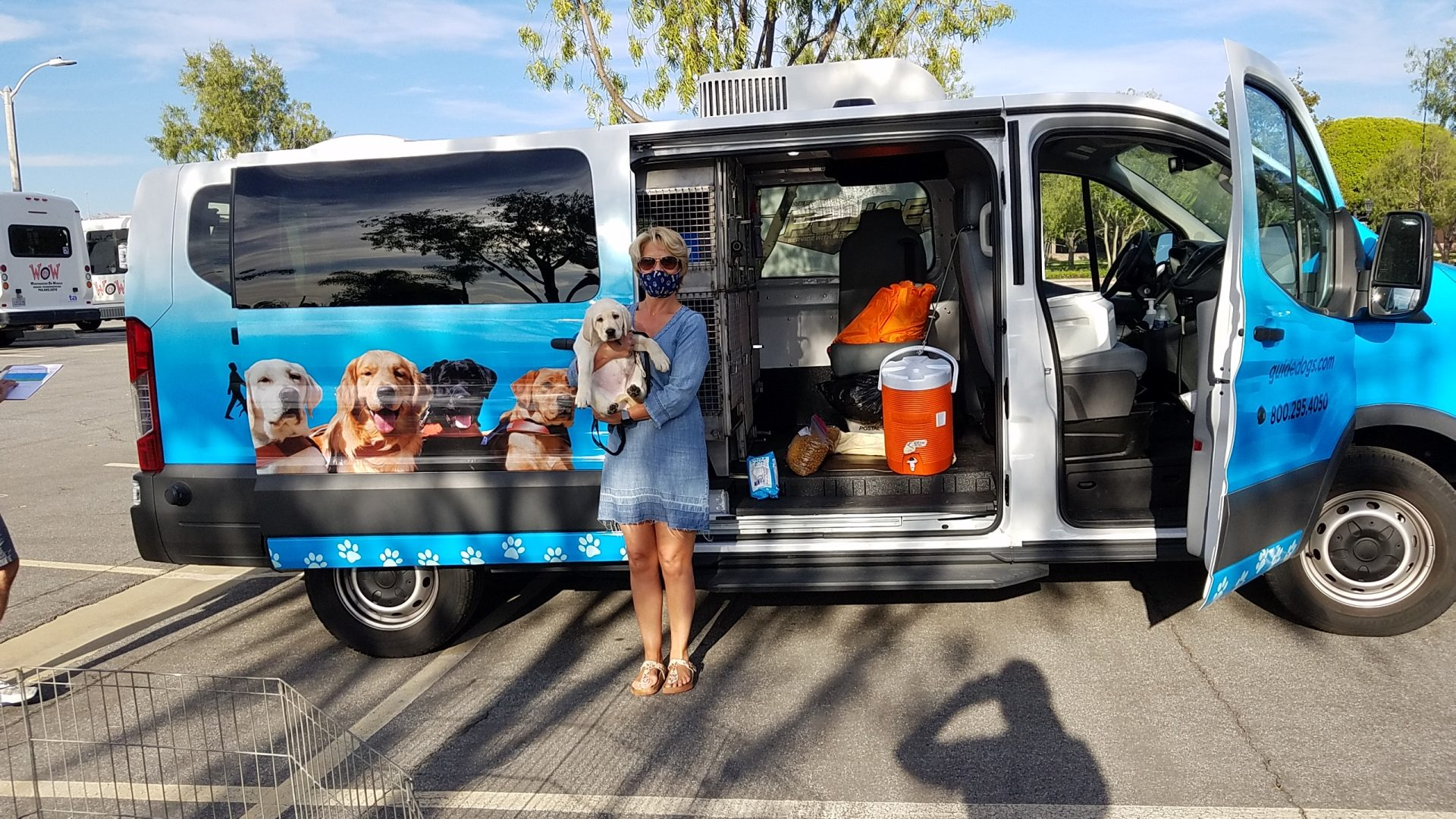 Lisa with Wendell at the Puppy Truck