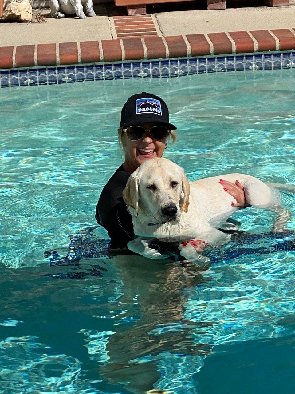 Wendell first swim
